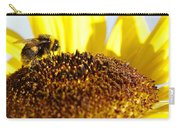 Bee And Flower Carry-all Pouch by Les Cunliffe
