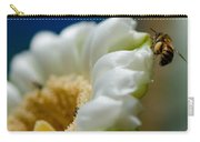Bee Drinking The Nectar Of Saguaro Cactus Flower Carry-all Pouch