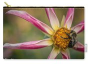 Bee Enjoying A Willie Willie Dahlia Carry-all Pouch