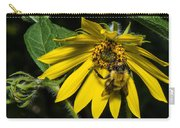 Bee In A Wild Flower Carry-all Pouch