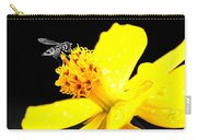 Bee In Black And White Carry-all Pouch
