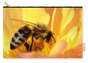 Bee In Flower Carry-all Pouch