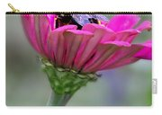 Bee In Pink Flower Carry-all Pouch