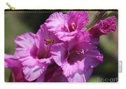 Bee In Pink Gladiolus Carry-all Pouch
