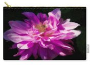 Bee In Purple Dahlia Carry-all Pouch