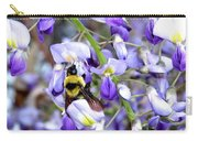 Bee In The Wisteria Carry-all Pouch