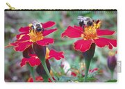 Bees On A Marigold 4 Carry-all Pouch