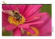 Bee On A Pink Daisy Carry-all Pouch