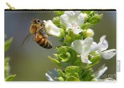 Bee On Basil Carry-all Pouch