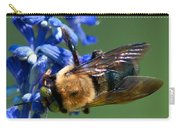 Bee On Blue Carry-all Pouch