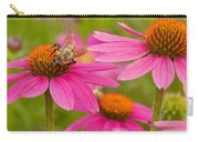 Bee On Coneflower Carry-all Pouch