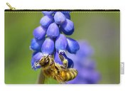 Bee On Grape Hyacinth Carry-all Pouch