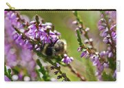 Bee On Heather Carry-all Pouch