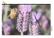 Bee On Lavender Square Carry-all Pouch