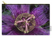 Bee On Passion Flower Brazil Carry-all Pouch by Pete Oxford