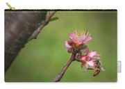 Bee On Peach Bloom Carry-all Pouch