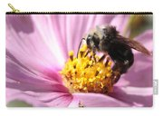 Bee On Pink Cosmos Carry-all Pouch