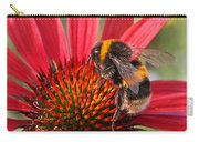 Bee On Red Coneflower 2 Carry-all Pouch