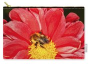 Bee On Red Dahlia Carry-all Pouch