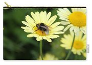 Bee On Yellow Carry-all Pouch