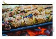 Beef Kababs On The Grill Closeup Carry-all Pouch