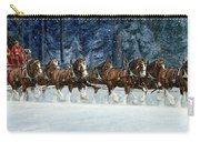 Clydesdales 8 Hitch On A Snowy Day Carry-all Pouch