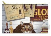 Beerbohm, The Theatre Cat Oil & Tempera On Panel Carry-all Pouch