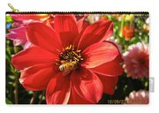 Bee's Dahlia Delight Carry-all Pouch