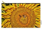 Bees On Sunflower Hdr Carry-all Pouch