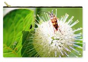 Beetle On Buttonbush Carry-all Pouch