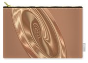 Beige Satin Oval 1 Carry-all Pouch