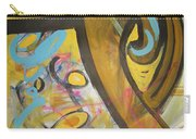 Being Easy Original Abstract Colorful Figure Painting For Sale Yellow Umber Blue Pink Carry-all Pouch