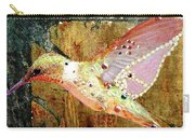 Bejeweled Hummingbird Carry-all Pouch