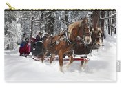 Belgian Draft Horses Pulls A Sleigh In Yosemite National Park Carry-all Pouch