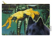 Belgian Shepherd Art Canvas Print - Creature From The Black Lagoon Movie Poster Carry-all Pouch