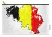 Belgium Painted Flag Map Carry-all Pouch