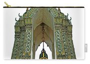 Bell Tower In Wat Po In Bangkok-thailand Carry-all Pouch