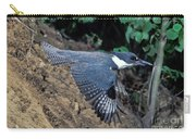 Belted Kingfisher Leaving Nest Carry-all Pouch