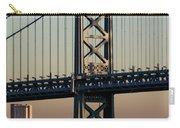 Ben Franklin Bridge Over Delaware River Carry-all Pouch