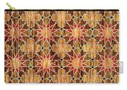 Ben Yusuf Madrasa Geometric Pattern Wood Carry-all Pouch