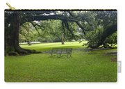 Bench At Oak Alley Plantation Carry-all Pouch