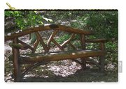Bench Made Of Tree Branches Carry-all Pouch