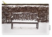 Bench In The Snow Carry-all Pouch