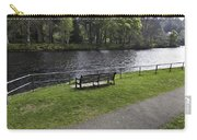 Bench On Shore Of River Ness In Inverness Carry-all Pouch