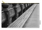 Bench Row Black And White Carry-all Pouch