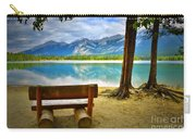 Bench View At Lake Edith Carry-all Pouch