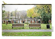 Benches By The Cemetery Carry-all Pouch