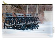 Benches In The Snow Carry-all Pouch
