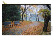 Benches Of Fall Carry-all Pouch