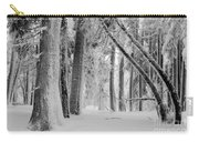 Bending Snow Trees Carry-all Pouch